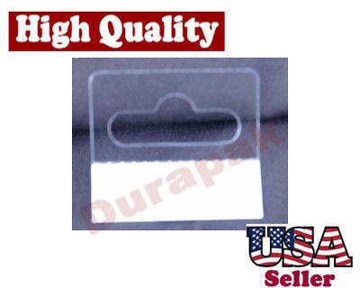 60~ PVC Self Adhesive Hang Tabs Box Hanging Display Hangar Tab Butterfly Slot
