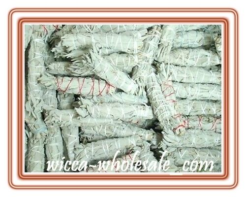 "LOT of 10 white Sage Smudge 4 1/2 to 5"" Stick House Cleansing Negativity Removal"