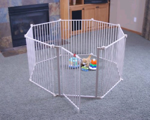"Regalo 192"" baby gate convertible to playyard"