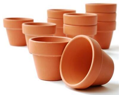 10er-Set Tontöpfe - Blumentöpfe- Ø 5 cm - Ø 10 cm - Ideal zur Anzucht