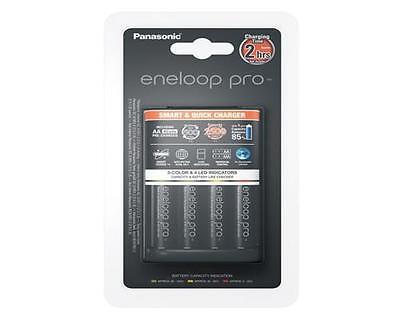 Panasonic Schnell-Ladegerät BQ-CC55E + 4x Eneloop PRO AA Mignon Akku mind2500mAh