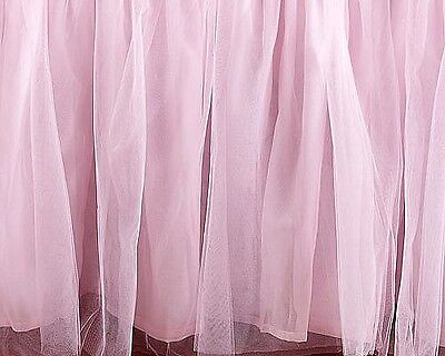 Pottery Barn Kids TULLE crib skirt PINK princess ballerina