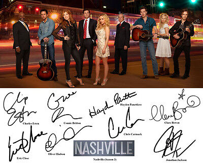 Nashville 3 Connie Britton Hayden Panettiere Cast Signed Photo Autograph Reprint