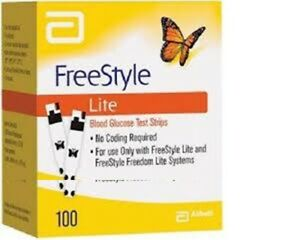 100 count DIABETIC TEST STRIPS FreeStyle Lite