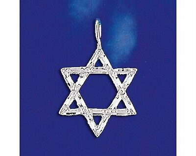 Sterling Silver Jewish Star Of David Pendant Magen David Charm Solid 925 Italy - Jewish Star Charm
