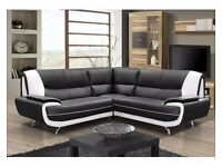 ***WHOLESALE PRICE OFFER***PALERMOR A NEW ITALIAN DESIGN FAUX LEATHER 3+2 SEATER OR CORNER SOFA SET