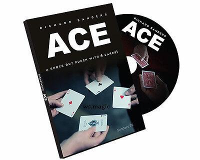 ACE (Cards & DVD) Richard Sanders Close Up Street Gaff Card Magic Trick Parlor (Richard Sanders Ace)