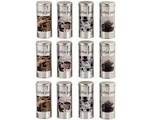 Xavax-porta-capsule-caffe-coffee-pads-Silver-barattolo-contenitore-alluminio