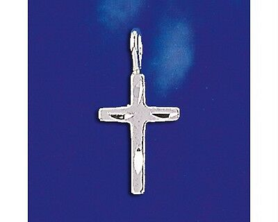 Sterling Silver Cross Pendant Diamond Cut Religious Christian Charm Solid 925