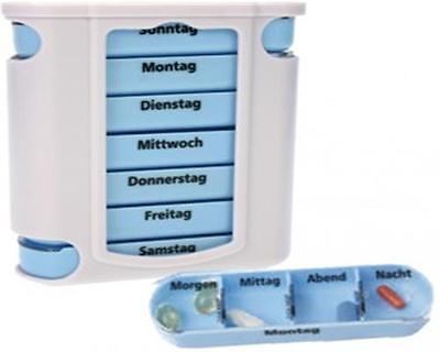7 Tage Tablettenbox Pillendose,Pillenbox Wochendispenser Medikamentendispenser