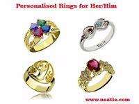Buy Gold Personalised Rings