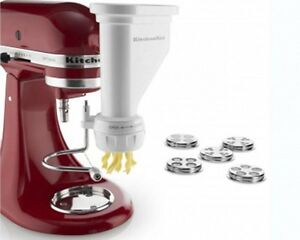 Kitchenaid Mixer Pasta Press Stand-mixer Attachment 6-pc Pasta Spag Maker
