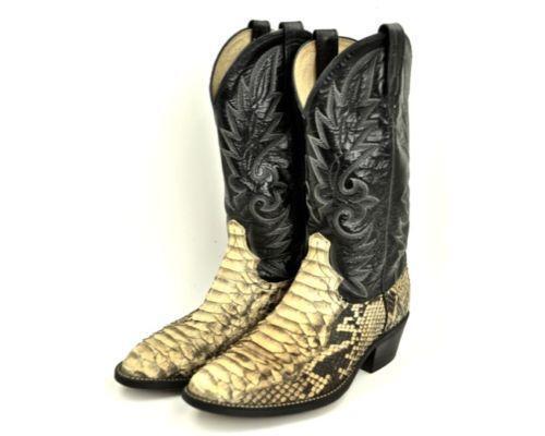 Python Snake Skin Boots Ebay