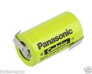 Panasonic KR-5000 DEL/Sanyo Cadnica NiCd 1.2V 5000 mAh mit Lötfahne | Mono Zelle