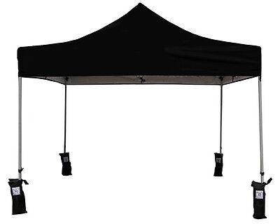 Tailgate Gazebo - 10x10 EZ Pop Up Canopy Tent Instant Canopy Outdoor Gazebo Tailgate Tent Black
