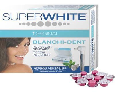 SUPERWHITE ORIGINAL Blanchi-Dent Kit Zahnpolierer + 12 x Profi Zahnpolierpaste
