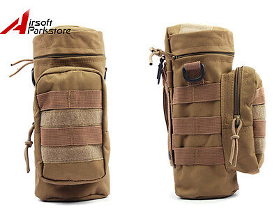 Tactical Military Camping Hiking Molle Water Bottle Pouch Bag Holder Carrier Tan