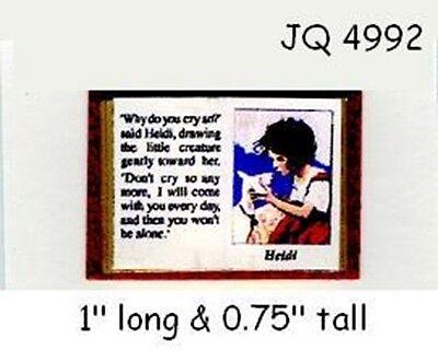 (HEIDI OPEN BOOK Dollhouse Miniature 1:12 Scale)
