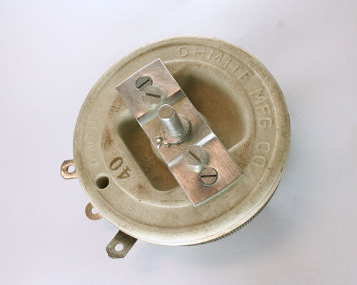 New Ohmite 40 Ohms 225 Watt Single Turn Rheostat