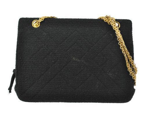 chanel tweed bag ebay