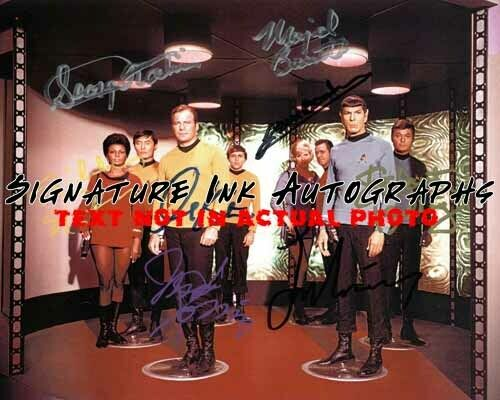 StarTrek Cast Signed 8x10 Autographed Photo reprint