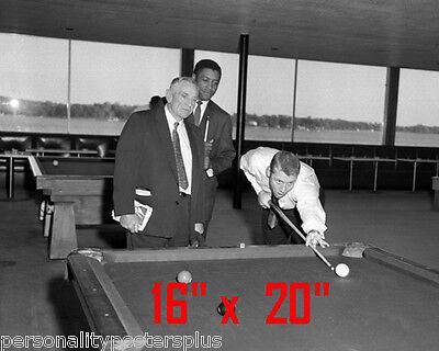 Mickey Mantle~NY Yankees~Shooting Pool~Playing Pool~Billiards~16