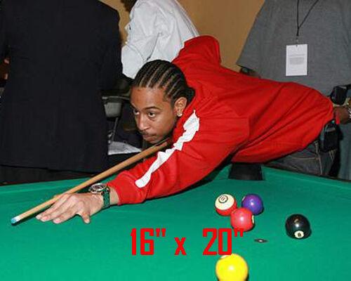 "Ludacris~Color~Playing Pool~Shooting Pool~Billiards~Poster~16"" x 20"" Photo"