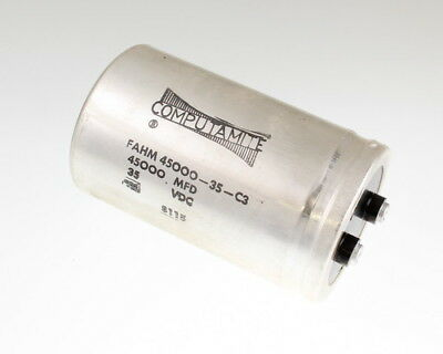 Cornell Dubilier 45000uf 35v Large Can Electrolytic Capacitor Fahm450000-35-c3