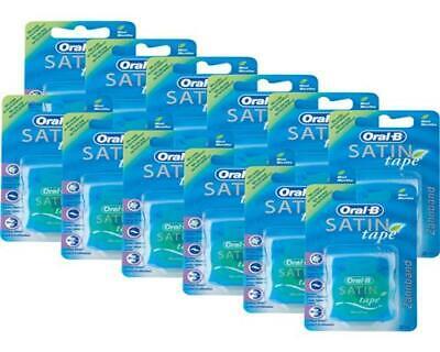 Oral-B SATIN tape Zahnseide 25 m Mint 12er Pack - Satin Tape Mint