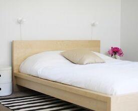 Ikea Malm Double Bed & Mattress