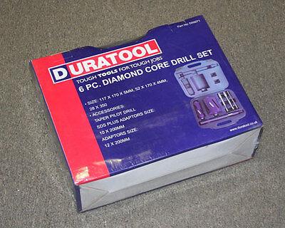 New Tl10280 Duratool 6 Pcs. Diamond Core Drill Set