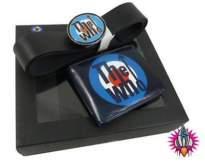 OFFICIAL THE WHO MOD BI FOLD WALLET AND BELT GIFT SET NEW SIZE S-M