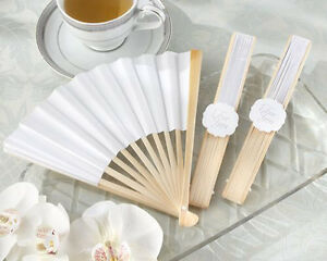 white fan for wedding