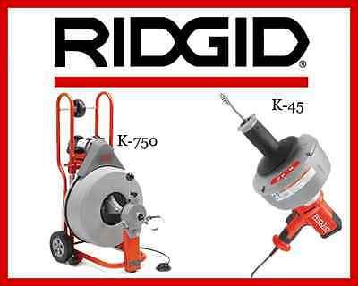 Ridgid K-45-1 Sink Machine 36013 Ridgid K-750 Drum Machine 42007