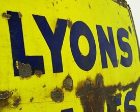Lyons Cakes Enamel Sign