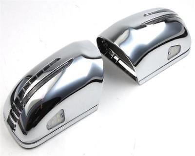 Chrom Spiegelkappen LED Blinker FÜR Mercedes W202 R129 SL