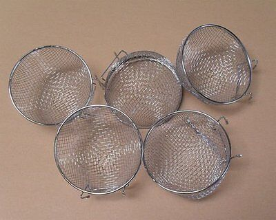 Finch Bird Nests - Metal Finch Canary Bird Nests Lot of 5