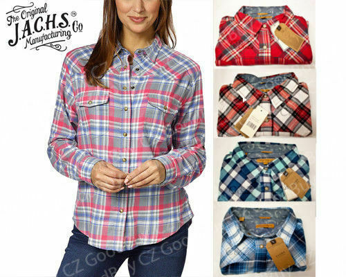 NEW** Jachs Women's Girlfriend Flannel Long Sleeves Shirt Pl