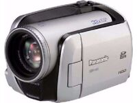 Panasonic Camcorder 30GB hard drive + free sd card and another camera also free only £60 for all