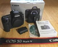 Canon EOS 5D Mark IV DSLR Body with Box and Accessories - MINT!