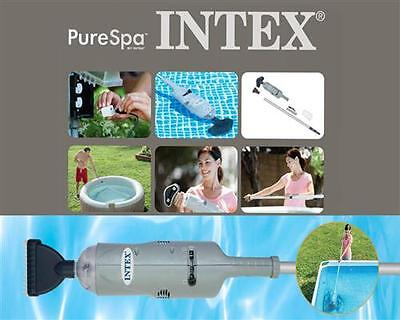 INTEX Poolsauger Handstaubsauger mit Akku Quick-Up Pool Becken