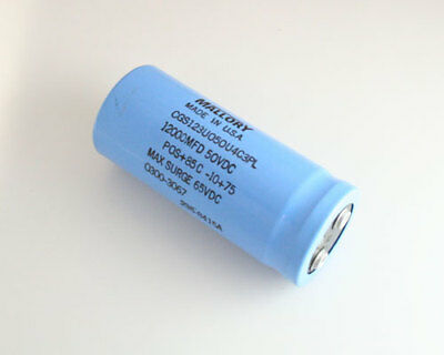 1x 12000uf 50v Large Can Electrolytic Capacitor 12000mfd 50vdc 12000 Uf