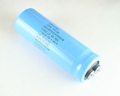 1x 7500uf 55v Large Can Electrolytic Capacitor 7500mfd 55 Volts Dc 7500 Uf