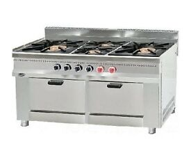 Two Jumbo Burner Cooker With Two Ovens EN217