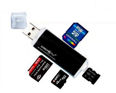 Schwarz Card Reader Kartenleser Micro SD MMC M2 USB 2.0 Stick für Speicherkarte online kaufen