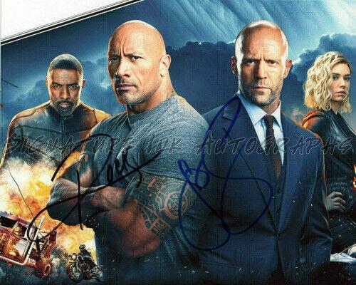Dwayne Johnson & Jason Statham Signed Autographed 8x10 Photo HOBBS & SHAW reprin