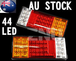 2x LED Trailer Tail Light Indicator 12V Ute Car TRUCK CAMPER CARAVAN Boat PART