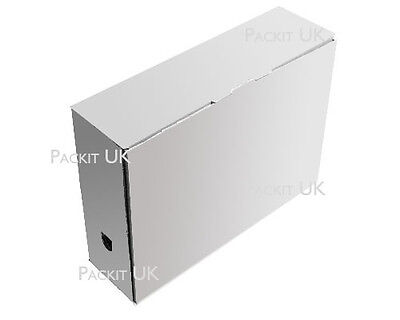 A4 Foolscap File Archive Storage Cardboard Boxes QTY 1 to 50 400 x 102 x 280mm