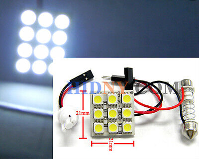 Universal Dome - T10 9-SMD 5050 PCB Super Bright LED T10 and Universal Dome Adapter WHITE