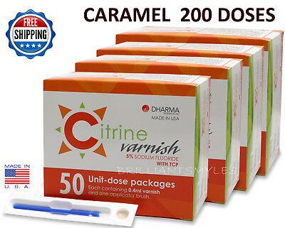 Citrine 5 Sodium Fluoride Varnish Caramel 0.4ml 200 Unit-dose Packs Dental